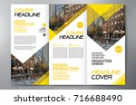 business brochure. flyer design.... | Shutterstock .eps vector #716688490
