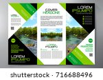 business brochure. flyer design.... | Shutterstock .eps vector #716688496