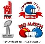 football championship fancy... | Shutterstock .eps vector #716690050