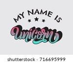 my name is unicorn. vector... | Shutterstock .eps vector #716695999