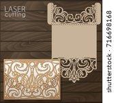 laser cut wedding invitation... | Shutterstock .eps vector #716698168