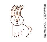forest rabbit animal wild fauna ... | Shutterstock .eps vector #716699608