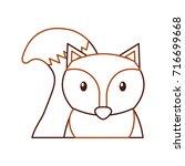forest fox animal wildlife... | Shutterstock .eps vector #716699668