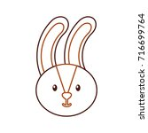 forest rabbit animal wild fauna ... | Shutterstock .eps vector #716699764