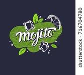 modern hand drawn lettering...   Shutterstock .eps vector #716704780