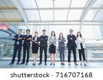 business team office worker... | Shutterstock . vector #716707168