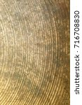 old brass cymbal texture with... | Shutterstock . vector #716708830