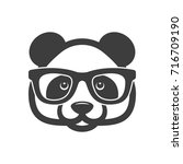 panda with glasses | Shutterstock .eps vector #716709190