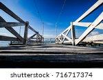 Wooden Bridge By The Sea