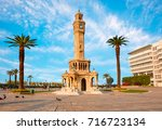 izmir clock tower. the famous... | Shutterstock . vector #716723134