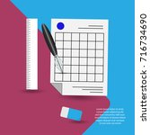 create note vector line icon.... | Shutterstock .eps vector #716734690