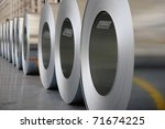 the production of zinc coated... | Shutterstock . vector #71674225