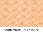 llustration waffle vector in... | Shutterstock .eps vector #716746870