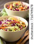 fresh coleslaw  a salad made of ... | Shutterstock . vector #716749678