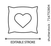 square pillow with heart shape... | Shutterstock .eps vector #716752804