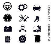 vector line car maintenance...   Shutterstock .eps vector #716754694