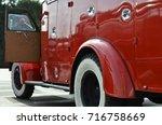 Old Fire Engine With Open Door