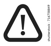 caution icon. warning icon... | Shutterstock .eps vector #716758849