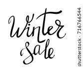 vector winter sale typographic...   Shutterstock .eps vector #716766544