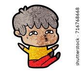 cartoon curious man   Shutterstock .eps vector #716768668