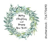 merry christmas and happy new... | Shutterstock . vector #716770690