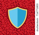 blood cells and shield   vector ...   Shutterstock .eps vector #716771803
