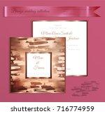 luxury bronze shiny wedding... | Shutterstock .eps vector #716774959