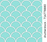 seamless pattern of fish scales.... | Shutterstock .eps vector #716778880