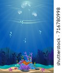 a beautiful underwater scene....   Shutterstock .eps vector #716780998