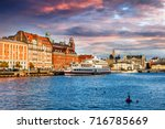 beautiful cityscape  malmo... | Shutterstock . vector #716785669