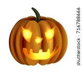 scary jack o lantern halloween... | Shutterstock .eps vector #716788666