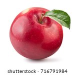 red apple isolated on a white... | Shutterstock . vector #716791984