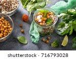 quinoa salad with baked... | Shutterstock . vector #716793028