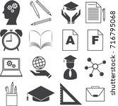 education  study icons set ... | Shutterstock .eps vector #716795068