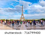 paris france   july 30 2017  ... | Shutterstock . vector #716799400