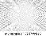 black white dotted halftone... | Shutterstock .eps vector #716799880