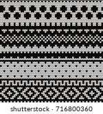 knitted abstract seamless... | Shutterstock .eps vector #716800360