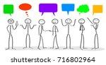 business meeting  corporate ... | Shutterstock .eps vector #716802964