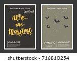horror movie retro posters set. ...   Shutterstock .eps vector #716810254