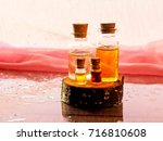 bottle of aroma essential oil... | Shutterstock . vector #716810608