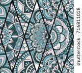 seamless pattern. vintage... | Shutterstock .eps vector #716811028