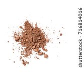 crushed face powder isolated on ... | Shutterstock . vector #716814016