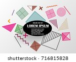 vector of abstract geometric... | Shutterstock .eps vector #716815828