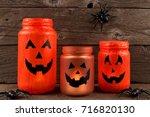 Mason Jar Halloween Jack O...