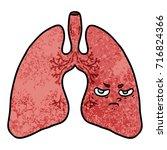 cartoon lungs | Shutterstock .eps vector #716824366
