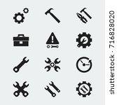 set of 12 editable repair icons....
