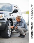 checking a used car before... | Shutterstock . vector #716829079