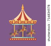 funfair carnival flat... | Shutterstock .eps vector #716834578