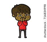 cartoon curious man   Shutterstock .eps vector #716834998