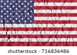 usa crisis concept  crumpled... | Shutterstock . vector #716836486